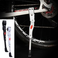 Wholesale New Black White MTB Adjustable Bike Stand Bicycle Foot Support Parking Kickstand Bicycle Rack Accesorios Bicicleta
