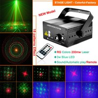 Projecteur projecteur laser party Prix-Mini Party Dance Lights Projecteur Laser Rouge Vert Couleur 18 Patterns Télécommande Eclairage Stage Professionnel