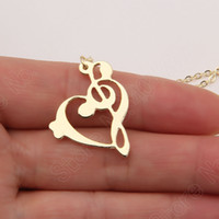 Pendant Necklaces bass clef - Music Note Necklace Bass Clef Treble Clef Necklace Piano Student Gift Choir Necklaces Pendants Plated Gold Choker Women