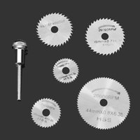 Alloy Steel CrN 22(25.32.35.44)*0.8*6.35mm 6pcs set Mini HSS Circular Saw Blade Rotary Tool For Dremel Metal Cutter Power Tool Set Wood Cutting Discs Drill Mandrel Cutoff