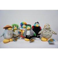 Jouets en peluche en gros bon marché des enfants de poupée pour les enfants de la qualité d'animation européenne et américaine Club Penguin 20CM style multi Club Pengui