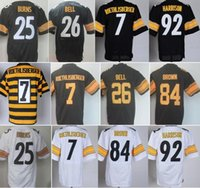 Wholesale Good Stitched LeVeon Bell Jersey Ben Roethlisberger Troy Polamalu Antonio Brown Artie Burns Heath Miller Brett Keisel