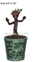 Wholesale 4 quot Guardians of the Galaxy Baby Groot Marvel Comics TV Movie Uniform iron on patch applique badge emblem party favor gift