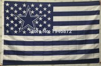 Wholesale Dallas Cowboys USA With Stars and Stripes Premium Team Football Flag X5FT