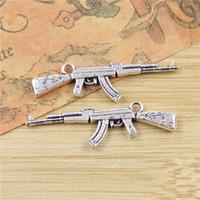 ak necklace - Gun AK Charms Pendants Jewelry Making Handmade Antique Silver Plated DIY Bracelet Necklace mm