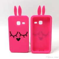 For Samsung ace bunny - 3D Cartoon Smile Bunny Rabbit Soft Silicone Cover for Samsung GALAXY J1 Mini J1 Ace J1 J3 J5 J7 A3 A5 J120 J510 J710 Rubber Phone Cases