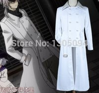 anime trench coat - Anime Black Bullet Cosplay Brother White Full Sleeves Trench Coat For Men Casual cosplay costumes Plus Size