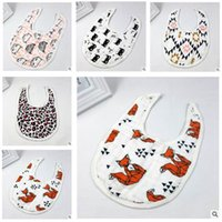 Wholesale Muslin Cotton Baby Bibs cotton three layers gauze Towel Children infant saliva towels girls boys bibs