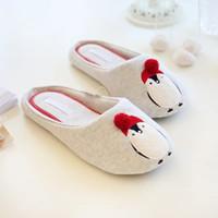 Vente en gros-Printemps et l'automne nouvelle mode mignons coton pingouin mens chaussures chaussures intérieur pantoufles femmes pantoufles soft unique