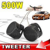 Bon Marché Efficacité noire-Vente en gros - 2016 Hot Sale Professional 2 pcs Mini Portable 500W High Efficiency Super Power Haut-parleur haut-parleur Tweeter pour voiture noir