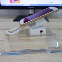 Wholesale New Fashion Smart Phone Security Display Stand Holder with Alarm and Acrylic Label Stand Plate