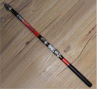 Nuevo 1,8M 2,1M 2.4M 2.7M 3.0M Telescópica Caña de pescar Pesca de hilado de pescado Mano mar fibra de carbono Pole Portable
