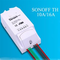 Wholesale itead Sonoff TH A A Temperature And Humidity Monitoring WiFi Smart Switch Controller Sensor with timing function