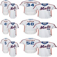 baseball tom - New York Mets Jersey Mens David Wright Mike Piazza Noah Syndergaard Tom Seaver Jacob deGrom Yoenis Cespedes Baseball Jersey