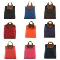 Wholesale Fashion Backpacks Waterproof Nylon Candy Color Bags Lightweight Portable Knapsack Colors Travel Beach Bag Foldable Zipper Backpack