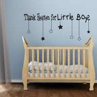 Wholesale thank heaven for little boys new products for stickers child for home mural wallpape CM