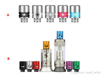 Cheap Top 510 Airflow Control Drip Tips Mouthpiece Tip Captain America Emoji Smile Face Huge Vaporizer Wide Bore Ecigs Mouthtips RDA Dripper