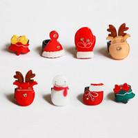 Mignon petite résine arbre de Noël Mini ClipBangs boucle ronde boucles de cheveux Pinces épingle pour les femmes Accessoires de cheveux pour les filles 8 pcs