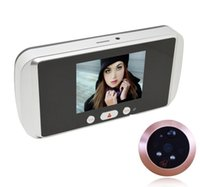 Wholesale LCD Digital Peephole Viewer Camera Video Doorbell Motion Detection SOS MMS