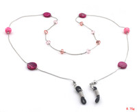 Wholesale GL172 pc Vogue Hot Pink Fresh Water Pearl Beaded Eyeglass Sunglasses Holder Chain Strap Neck Cord Necklace
