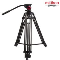 Wholesale miliboo MTT601A Aluminum Degrees Horizional Fluid Head Quick Release Plate For Canon Nikon DSLR Camera Tripod Monopod Better than Manf
