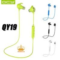 QCY QY19 Écouteurs sans fil sans fil Écouteurs stéréo Bluetooth sans fil compatibles 4.1 Écouteurs intra-auriculaires Apt-x avec MIC pour iPhone