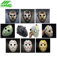 Wholesale Jason vs Friday The th Horror Hockey Cosplay Costume Halloween Killer Masquerade Ball Mask Scary Lace Mask Anonymou Masks