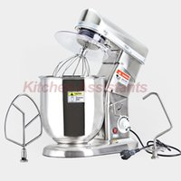 Traditional / Work Top bean products - 10L W Food Mixer Stainless Steel Egg Beater Push Button Milk Shaker Work Top Dough Mixer
