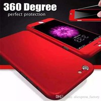 apple red plastic - Full Cover Degree Coverage Hard PC Tempered Glass Protective Case Cover For iPhone S Plus inch Samsung S7 edge MOQ