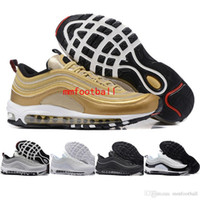 achat en gros de bas plat-Brand New Men Low Max 97 Chaussures de course respirantes Cheap Air Cushion Massage Flat Sneakers Man Maxes 97 Sports Outdoor Shoes