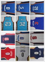 Wholesale Men DeMarcus Cousins Russell Westbrook Victor Oladipo Steven Adams Michael Shaquille O neal Allen Iverson jersey for mens