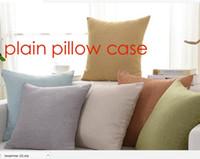 Wholesale 100pcs plain natural color cotton linen blank cushion cover blank pillow case other color plain pillow case custom print logo