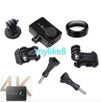 Wholesale 4k UV Filter For Xiaomi yi Camera Protective case frame J hook Buckle Mount Adapter for xiaoyi Action Sport Camera Accessories
