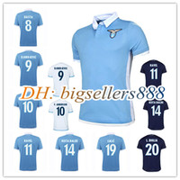 Wholesale Top Thai quality Lazio home blue soccer Jersey CANDREVA Balde Keita Basta camisa RD Lazio away white Football men Shirt