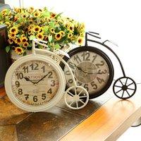 antique iron bells - Retro nostalgia big wheel bike wrought iron table clock clock bell household act the role of single clock