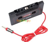 Wholesale Universal Car Cassette Playter Player Tape Adapter For iPod For iPhone MP3 AUX CD Player mm Jack DHL