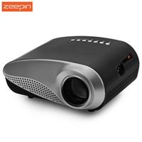 Wholesale Protable Mini H60 LCD LED Projector Lumens16 Aspect Ratio Supports HDMI USB VGA IR SD Card beamer Home Theater PK RD