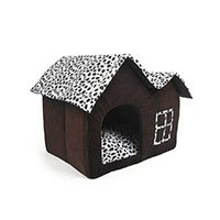 Wholesale Spotted two top House nest pet Kennel Cat House in brown cloth cabin pet warm new houses