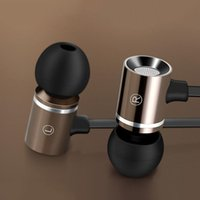 Wholesale Byloly Audio M Metal Earphone Heavy Bass Noise Cancelling Audio In ear Hands Free with Mic and Volume Control With Package