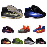 Wholesale 2016 Football Boots CR7 Mercurial x EA Sports Superfly V FG Mens Soccer Cleats Superflys Soccer Boots Cristiano Ronaldo Soccer Shoes For Men