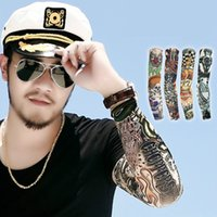 Wholesale DHL D Tattoo Sleeves Arm Wearmers Cycling Protective Outdoor Sport Stretch Arm Sleeve Tattoo Wears S08