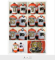 Wholesale NW11 Travis Konecny Jersey Philadelphia Flyers th Anniversary Jerseys Ivan Provorov Couturier Gostisbehere Gold letter Number