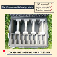 Wholesale waterproof safety equipment case trolley Tool case camera box Plastic sealed case tool box with pre cut foam