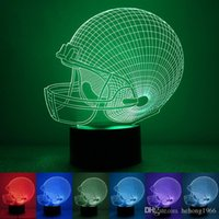 Wholesale Night Light Color Changing D LED Table Lamp Bedroom Decorative Colorful Teeth Nighting Lights Hot Sale rm