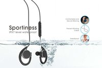 android running - AVWOO Waterproof Bluetooth earphones IPX7 Level Stereo Inear Secure Fit Running Gym Exercise for iPhone and Android