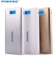 Wholesale Pineng mAh Capacity Power Bank Ultrathin Portable External Battery Bateria Externa Backup Charger PN