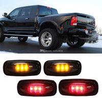Wholesale OSTH x LED Fender Bed Side Marker Lights Smoked Lens Amber Red for Dodge M00131