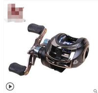 Wholesale ePacket gt Water wheel fishing vessels Grips road the raft magnetic pole wheel brake metal fishing line round hand fish fishing