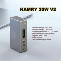 Cheap Kamry E Cigarette Kits for 510Thread Electronic Cigarette Atomizer 30W Electronic Cigarette Vaporizer without Battery V2