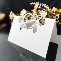 Wholesale Wedding favor party favors creative Wedding Party Table Number Name Place Card Laser Cut Wedding Party Decoration